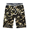 זול נעלי בד ומוקסינים לגברים-בגדי ריקוד גברים Military רזה צ'ינו מכנסיים - דפוס ירוק צבא חאקי אפור בהיר XL XXL XXXL