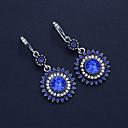 ราคาถูก ตุ้มหู-สำหรับผู้หญิง Cubic Zirconia Drop Earrings คลาสสิค โบฮีเมียน ต่างหู เครื่องประดับ ไวน์ / สีกรมท่า / สีน้ำเงินกรมท่า สำหรับ ทุกวัน เทศกาล 1 คู่