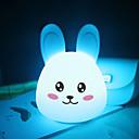 abordables Perruques de Cosplay de Manga-1pc Rabbit LED Night Light / Veilleuse de pépinière / Lumière de livre USB Bande dessinée / Soulagement de stress et l'anxiété / Rechargeable 5 V