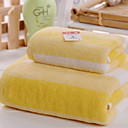 זול מגבת רחצה-איכות מעולה מגבת רחצה, אחיד תערובת כותנה / פשתן חדר אמבטיה 2 pcs