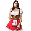hesapli Oktoberfest-Kasım Festivali üstü dar altı geniş elbise Trachtenkleider Kadın's Bavyera YAKUT