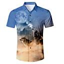זול בגדי ריצה-חיה חולצה - בגדי ריקוד גברים פול L / שרוולים קצרים
