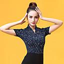 economico Abbigliamento balli da sala-Balli da sala Top Per donna Prestazioni Seta sintetica Con ruche Manica corta Top