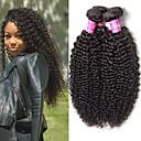 זול אביזרים למקרנים-4 חבילות שיער ברזיאלי Kinky Curly שיער בתולי טווה שיער אדם שיער Bundle תוספות שיער משיער אנושי 8-28inch צבע טבעי שוזרת שיער אנושי ללא ריח מתנה חיים תוספות שיער אדם