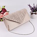 hesapli Zarf Çantalar ve Gece Çantaları-Kadın's Gece Çantası Düğün Çantaları Polyester Siyah / Gümüş / Bej
