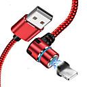 voordelige Mobiele telefoon kabels & Oplader-bliksem usb-kabel adapter gevlochten / snel oplaadkabel voor iphone 100 cm voor acetaat / nylon / luminescent