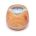 billiga Doftspridare-träkorn 400ml ultraljud luftfuktare aromaterapi lampa hushåll genomskinlig sju färger varm ljus aromaterapi maskin