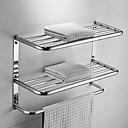 זול מוטות למגבות-מתלה מגבת עיצוב חדש / מגניב עכשווי פלדת על חלד 1pc - חדר אמבטיה כפול / 1-מגבת בר מותקן על הקיר