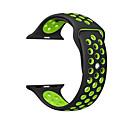 זול רכב הגוף קישוט והגנה-עבור רצועת רצועת iwatch תפוח 42mm 38mm 40mm 44mm 44mm שתי רצועת צליל סיליקון עבור iwatch הלהקה 4/3/11 wristbands יצירתי דו צדדי