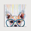 זול ציורי חיות-ציור שמן צבוע-Hang מצויר ביד - חיות מודרני כלול מסגרת פנימית