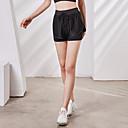 זול בגדי ריצה-בגדי ריקוד נשים # שורט לריצה רץ מכנסיים עם גרבונים נעלי דחיסה חגורה גמישה טלאים מכנסיים קצרים נושם ייבוש מהיר תומך זיעה צבע אחיד / אלסטיין / מיקרו-אלסטי / גיזרה גבוהה
