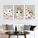 זול מדבקות קיר-מסגרת תמונה חמוד חתול מדבקות קיר - מדבקות קיר המטוס תחבורה / נוף חדר / משרד / חדר אוכל / מטבח