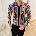 povoljno Muške tenisice-Veličina EU / SAD Majica Muškarci Geometrijski oblici Print Crn / Dugih rukava