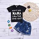billige Sett med Gutter babyklær-Baby Gutt Grunnleggende Trykt mønster Kortermet Normal Bomull Tøysett Svart
