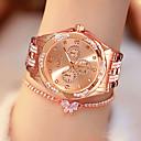 ราคาถูก แหวนผู้ชาย-สำหรับผู้หญิง นาฬิกาควอตส์ นาฬิกาอิเล็กทรอนิกส์ (Quartz) สไตล์ สแตนเลส เงิน / ทอง / Rose Gold 30 m กันน้ำ Creative นาฬิกาใส่ลำลอง ระบบอนาล็อก แฟชั่น - สีทอง สีเงิน ทองกุหลาบ / หนึ่งปี