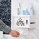 זול מחזיק מברשות שיניים-מחזיק נייר טואלט רב שימושי מודרני עץ 1pc מותקן על הקיר