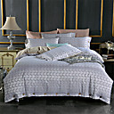 お買い得  ラグジュアリー布団カバー-布団カバーセット ソリッド / 贅沢 コットン ジャカード織 4個Bedding Sets