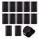 رخيصةأون اكسسوارات اكس بوكس 360-10 × استبدال البطارية الغطاء الخلفي xbox360 wirelesscontroller الأسود
