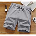 hesapli Erkek Atletik Ayakkabıları-Erkek Temel Şortlar Pantolon - Solid Siyah Ordu Yeşili Açık Gri XXL XXXL XXXXL