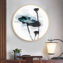 זול אומנות ממוסגרת-קאנבס ממוסגר הדפסים - מופשט פרחוני / בוטני עץ סקיצה וול ארט