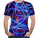 cheap Men's Sneakers-Men's Plus Size Cotton T-shirt - 3D Print Round Neck Royal Blue XXXXL