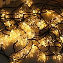 זול אורות נתיב-1 סט הוביל פנס אור השמש מחרוזת 10m 50 אור פתית שלג חג המולד פתית שלג בחוץ waterproof אור לילה אור