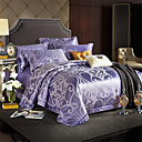 cheap High Quality Duvet Covers-Duvet Cover Sets Solid Colored / Luxury Polyster Jacquard 4 PieceBedding Sets