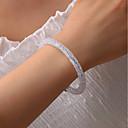 preiswerte Halsketten-Damen Manschetten-Armbänder Klassisch Donuts Koreanisch Kunststoff Armband Schmuck Weiß / Schwarz / Grau Für Festtage Arbeit Festival
