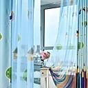 halpa Ikkunoiden verhot-Nykyaikainen One Panel Sheer Makuuhuone   Curtains