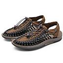 baratos Sandálias Masculinas-Homens Sapatos Confortáveis Microfibra Verão Sandálias Preto / Preto / Vermelho / Branco / azul / Ao ar livre