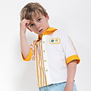 זול בגדי ריקוד לילדים-חולצה כותנה שרוולים קצרים פסים סגנון רחוב בנים ילדים