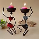 halpa Kynttilät ja kynttilänjalat-nykyaikainen rauta-kynttilänjalat kynttilänjalka / kynttilänjalka 1kpl, kynttilä / kynttilänjalka
