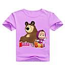 cheap Corsets & Bustiers-Kids Toddler Girls' Basic Print Print Short Sleeve Cotton Spandex Tee Blushing Pink