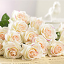זול פרחים מלאכותיים-פרחים מלאכותיים 1 ענף קלאסי חתונה ארופאי ורדים פרחים נצחיים פרחים לשולחן