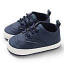 זול נעלי ספורט לילדים-בנים / בנות צעדים ראשונים PU נעלי ספורט תינוקות (0-9m) / פעוט (9m-4ys) כחול כהה / אפור / חום אביב / סתיו