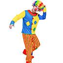 halpa Halloween- ja karnevaaliasut-Burlesque / Pelle Sirkus Cosplay-Asut Juhla-asu Miesten Juhla / ilta Miesten Uniform Karnevaali Festivaali / loma Polyesteria Sateenkaari Karnevaalipuvut Color Block