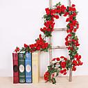 זול פרחים מלאכותיים-פרחים מלאכותיים 1 ענף קלאסי להתקנה על הקיר מסורתי חתונה ורדים פרחים נצחיים פרחים לקיר