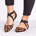 hesapli Kadın Babetleri-Kadın's Ayakkabı Sentetikler İlkbahar yaz Düz Ayakkabılar Düz Taban Günlük için Siyah / Bej / Leopar