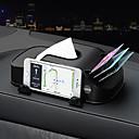 זול אירגוניות לרכב-מכונית רקמת תיבת מרובת פונקציות טלפון נייד סוגר מתקע אוטומטי רקמת תיבת מכולה 3 ב 1 מחזיק נייר