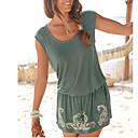 preiswerte Körperschmuck-Damen Grundlegend Strand Design Etuikleid Kleid Solide Mini