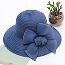 זול נעלי אוקספורד לנשים-כל העונות כחול נייבי אפור סגול כובע עם שוליים רחבים כובע קש כובע שמש קולור בלוק פרחוני רשת מסיבה בסיסי סגנון חמוד בגדי ריקוד נשים