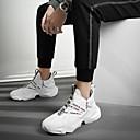 זול נעלי ספורט לגברים-בגדי ריקוד גברים נעלי קלונקי רשת / PU אביב קיץ / סתיו חורף ספורטיבי / יום יומי נעלי אתלטיקה ריצה / הליכה נושם לבן / שחור