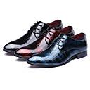 halpa Miesten Oxford-kengät-Miesten Muodolliset kengät Nahka Kevät / Syksy Englantilainen Oxford-kengät Kävely Musta / Punainen / Sininen / Häät / Juhlat / Split Joint / Juhlat / Oxfords-painatus