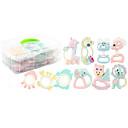 זול אמבטיה אביזרים הגדר-צעצוע לאמבטיה צעצועים מוזרים אינטראקציה בין הורים לילד גוּמִי ג'ל סיליקה ילדים לילד כל צעצועים מתנות 8 pcs