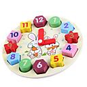 זול צעצועי קריאה-צעצוע שעון עץ צעצועים עגול חינוך עץ בגדי ריקוד ילדים חתיכות