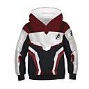 abordables Sacs Cosmétiques-Enfants Garçon Chic de Rue Bloc de Couleur Manches Longues Coton Pull à capuche & Sweatshirt Blanche