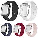 זול מערכות פעמון דלת-smartwatch הלהקה מקרים עבור Apple Watch סדרה 4/3/2/1 אפל סיליקון הלהקה סיליקון מקרים iwatch אופנה רכה ספורט רצועה