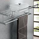 זול מדפי מקלחת-צדף לחדר האמבטיה יצירתי עכשווי אלומיניום 1pc מותקן על הקיר