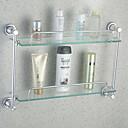 זול מדפי מקלחת-צדף לחדר האמבטיה יצירתי עכשווי זכוכית / אלומיניום 1pc - חדר אמבטיה מותקן על הקיר
