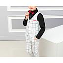 זול כיסוי לאופניים-לבן / שחור כותנה / פוליסטר חליפה לנושא הטבעת  - 1set כולל וסט / Pants / עניבת פרפר